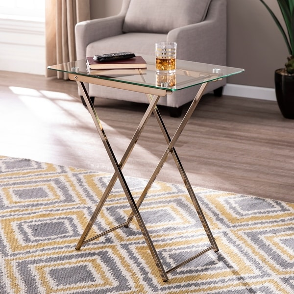 Silver Orchid Hinding Folding Tray Table