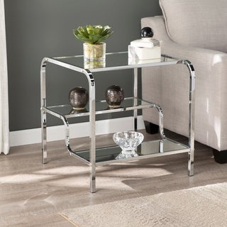 Silver Orchid Hinding Mirrored Side Table