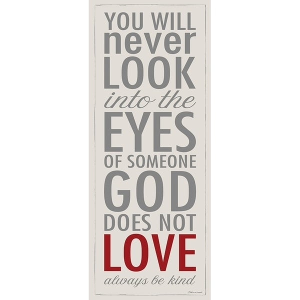 The Stupell Home Decor God Loves Everyone Be Kind Typography Inspirational Wall Plaque Art, 7 x 17, Proudly Made in USA - 7 x 17