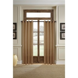 Burlap Grommet Single Curtain Panel