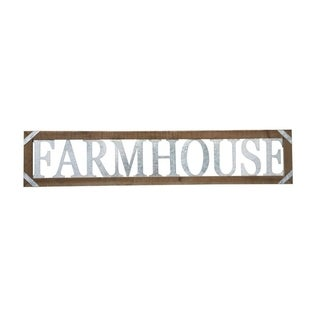 Metal and Wood Farmhouse Sign