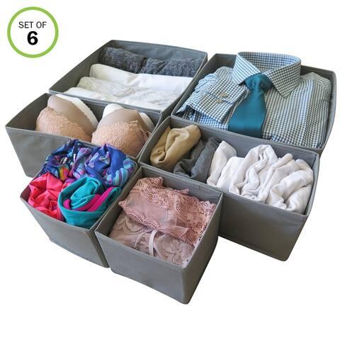 Evelots Foldable Cloth Drawer Storage Box-Closet-Dresser-Divider-Organizer-Set/6