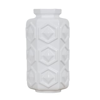 Hex White Large Hex Ceramic Vase