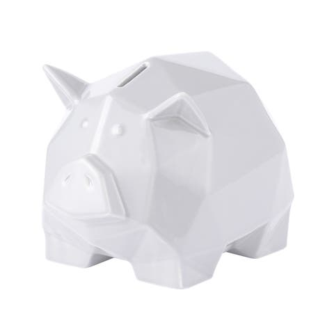 Origami Zoo White Ceramic Piggy Bank