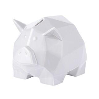 Origami Zoo White Ceramic Piggy Bank