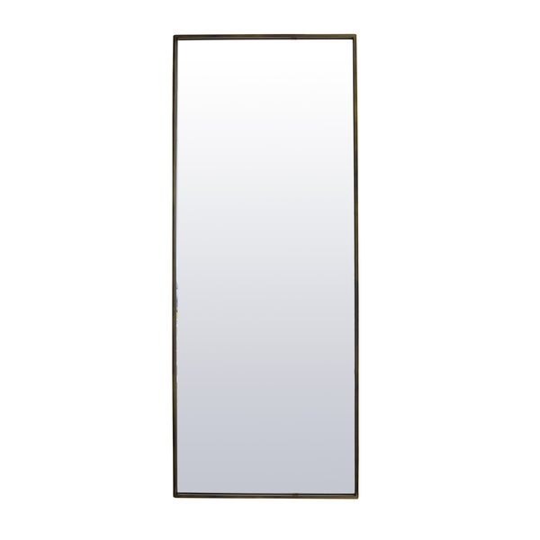 Deep Brass Full Length Leaning or Wall Mounted Mirror