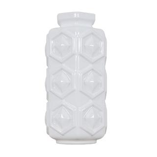 Hex White Small Hex Ceramic Vase