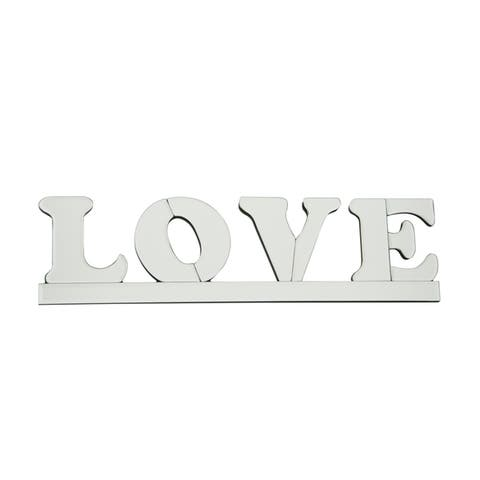 Love Mirrored Wall Art