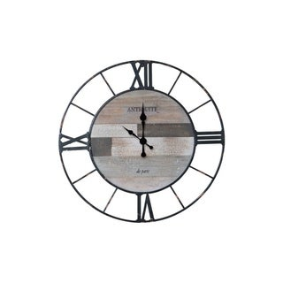 Wood Pallet and Metal Farmhouse Wall Clock