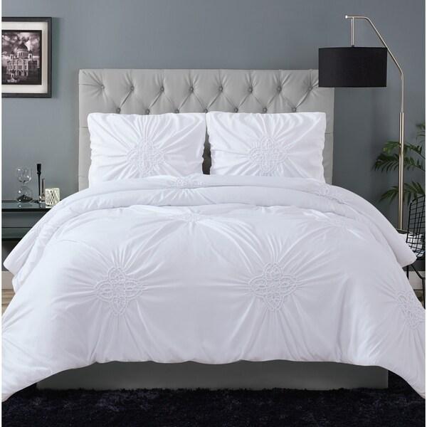 Porch & Den Airey Rouched 3-piece Comforter Set