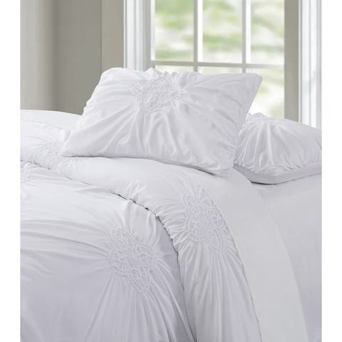 Porch & Den Airey Rouched 3-piece Comforter Set