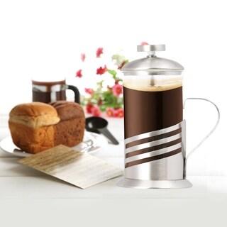 Single Cup French Press - 11 Oz. Coffee & Tea Maker - Wave Design