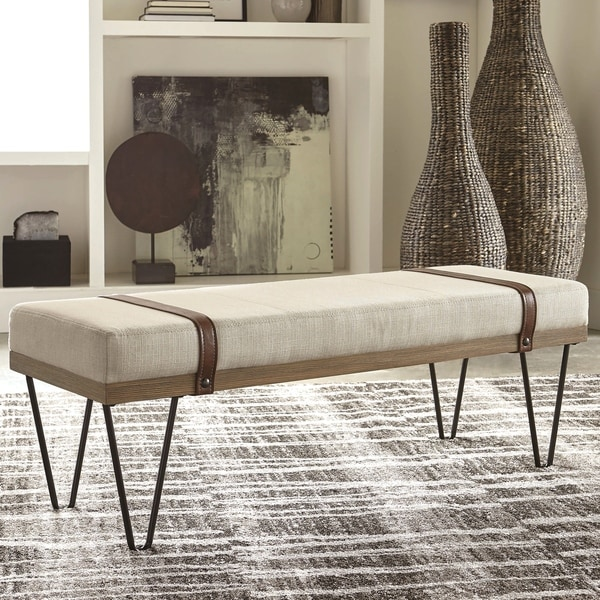 Shop Modern Industrial Inspired Design Accent Bench With Hairpin