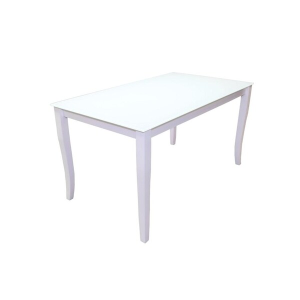 LETIZIA Glass Top Extendable Dining Table