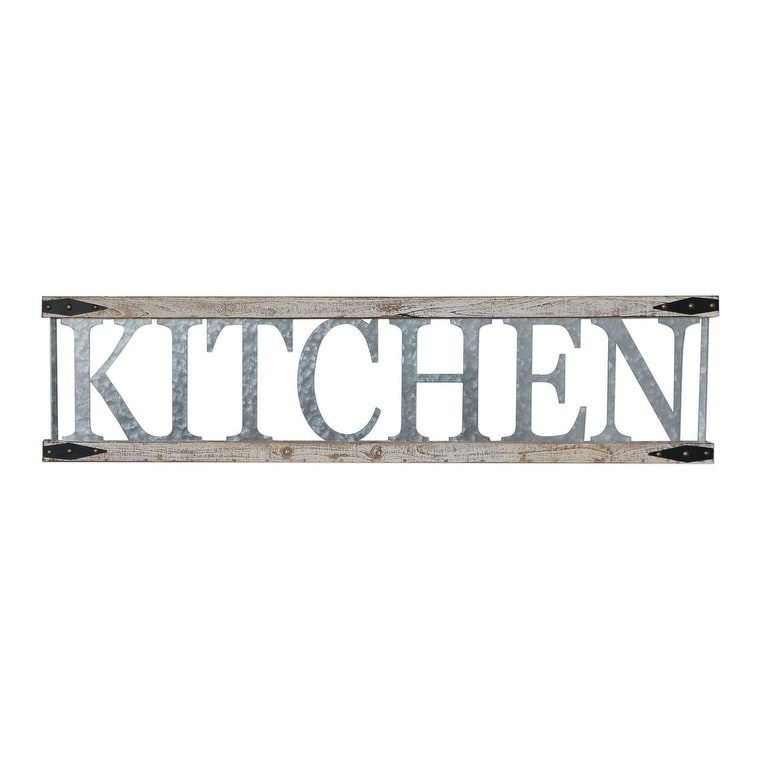 Details about KITCHEN Wall Art Sign Metal Wood Rustic Western Farmhouse  Decor Home Gift New