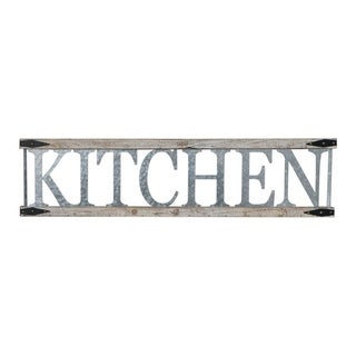 Metal and Wood Farmhouse Kitchen Sign