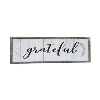 Framed Farmhouse Grateful Sign