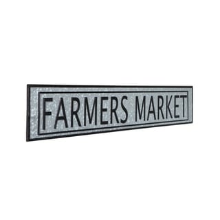 Vintage Farmers Market Metal Sign