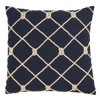 Saro Lifestyle Knotted Rope Down-filled Decorative Throw Pillow