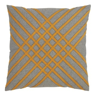 Saro Lifestyle Cotton Throw Pillow with Cross Hatch Design and Down Filling