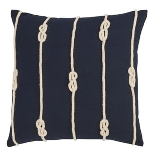 Double Knot Rope Down Filled 20 Inch Decorative Throw Pillow