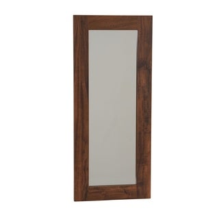 Household Essentials Wall Mirror in Hickory - Brown