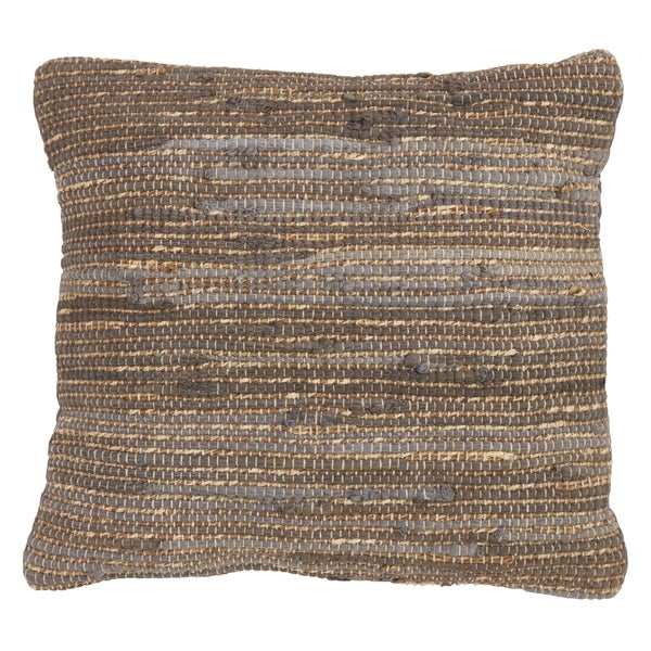 Saro Lifestyle Chindi Design Down Filled Throw Pillow