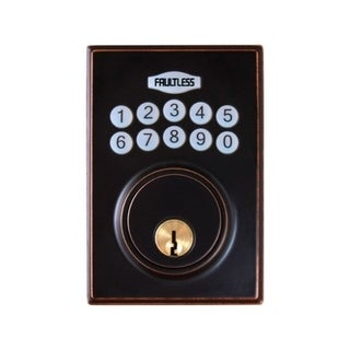 Link to Faultless  Aged Bronze  Metal  Electronic Deadbolt  N/A Similar Items in Doors & Windows
