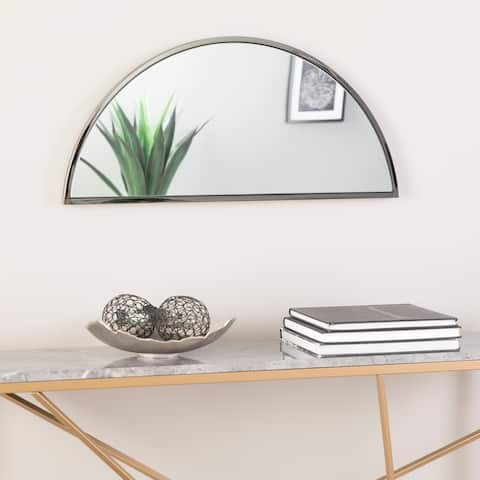 "Holly & Martin Wyndowlyn Arched Mirror 30"", High Gloss Black"
