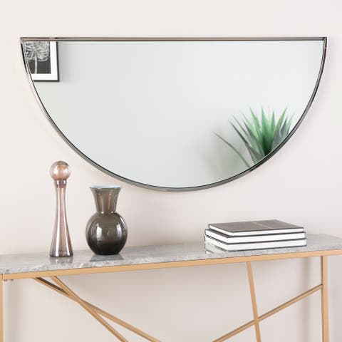 "Holly & Martin Wyndowlyn Arched Mirror 48"", High Gloss Black"
