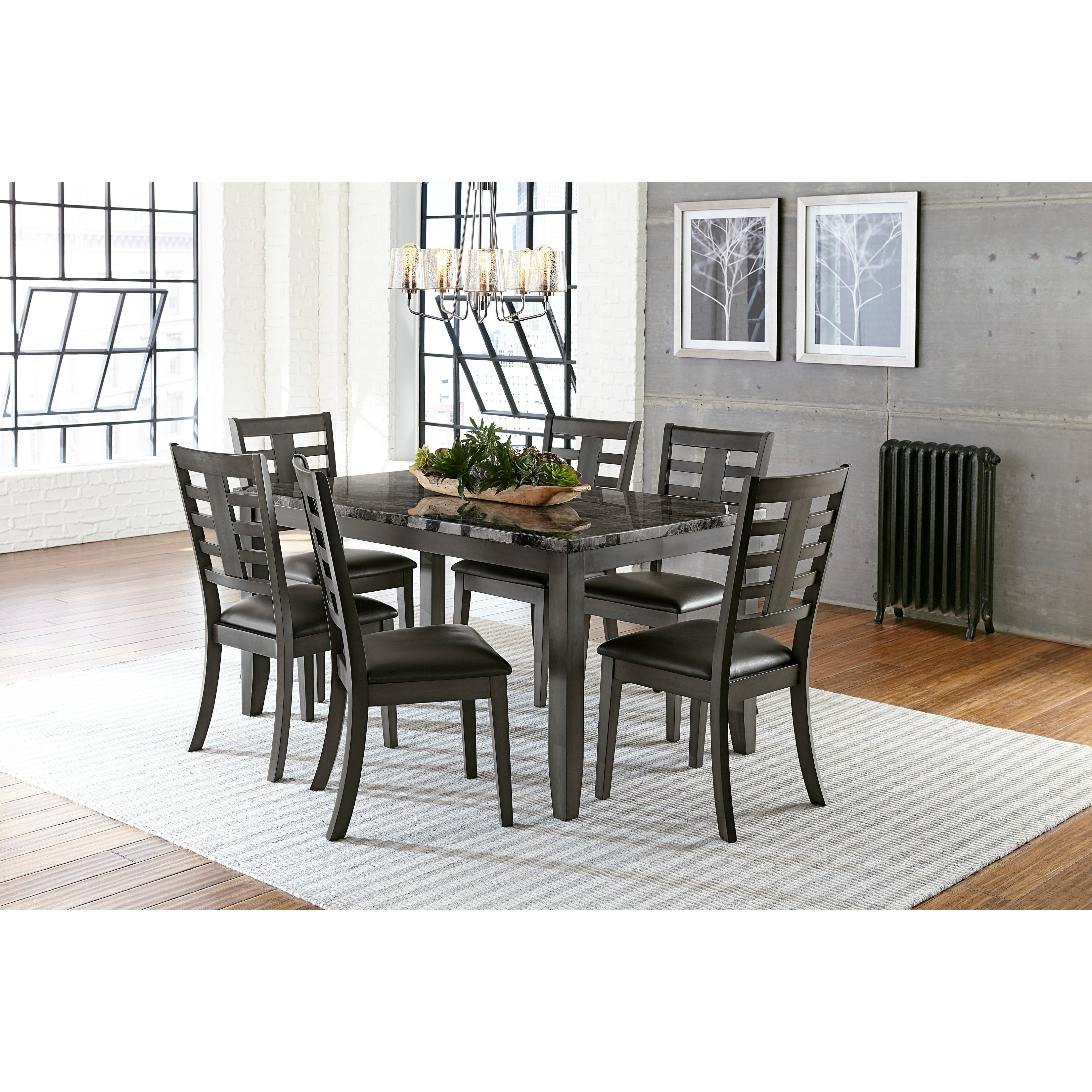 Standard Furniture Canaan 7 Piece Dining Table Set Black On Sale Overstock 26952096