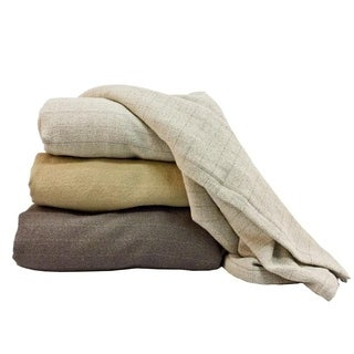 Marc Thee Home 100% Cotton Chalk Stripe Oversize Blanket