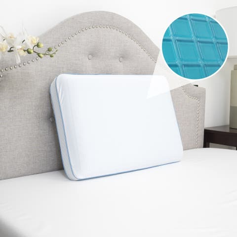 Sweet Home Collection Cool Gel Memory Foam Bed Pillow- 1 Pack