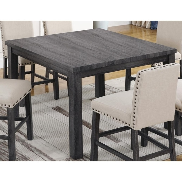 267d7530f5ef8c Best Master Furniture Antique Grey Counter Height Transitional Dining Table