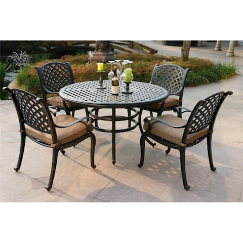 South Ponto 5-piece Aged Bronze Aluminum Round Dining Set by Havenside Home