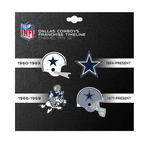 NFL Dallas Cowboys Sports Team Logo 4 Pin Set Franchise Timeline Collectible Throwback