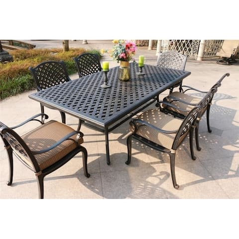 South Ponto 7-piece Aged Bronze Aluminum Dining Set by Havenside Home