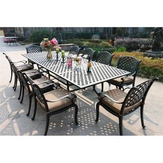 Havenside Home South Ponto 11-piece Aged Bronze Aluminum Dining Set