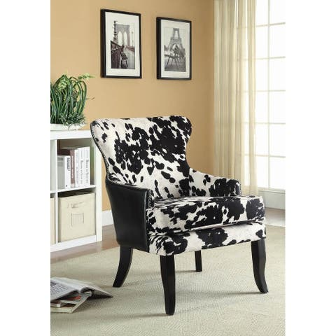 Angus Traditional Microfiber and Faux Leather Accent Armchair