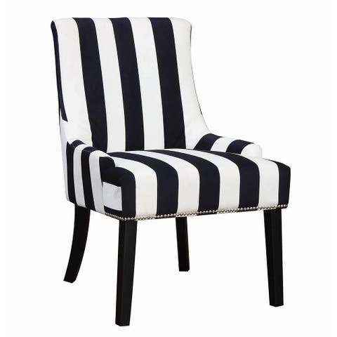 Calabria Transitional Striped Accent Chair