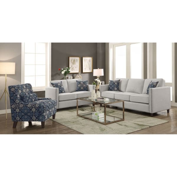 Shop Larkspur Transitional Upholstered Floral Accent Chair ...