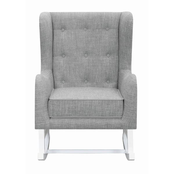 Pleasing Shop Monmouth Transitional Button Tufted Wingback Rocking Customarchery Wood Chair Design Ideas Customarcherynet
