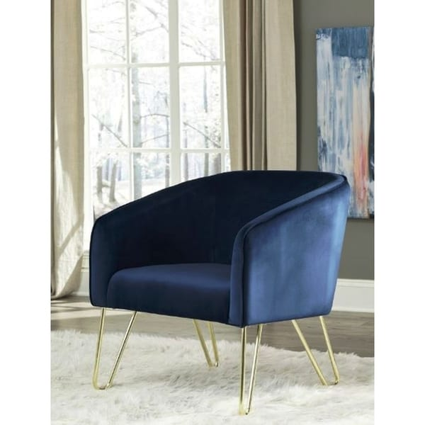 Floating Red Wine Velvet Acrylic Arm Accent Chair: Shop Silver Orchid Serda Velvet And Brass Accent Armchair