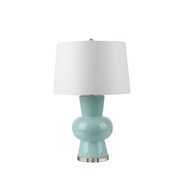 Shop Contemporary Style Ceramic Table Lamp With Single Gourd Base