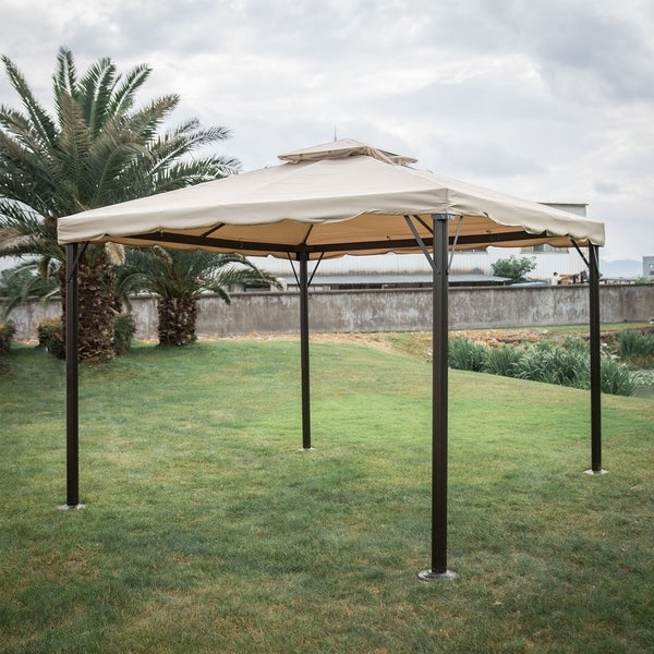 Kinbor Outdoor Gazebo Patio Gazebo Pop up Canopy Tent w/ Mosquito Netting u0026&; Side & Shop Kinbor Outdoor Gazebo Patio Gazebo Pop up Canopy Tent w ...