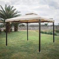 Kinbor Outdoor Gazebo Patio Gazebo Pop up Canopy Tent w/ Mosquito Netting & Side Walls