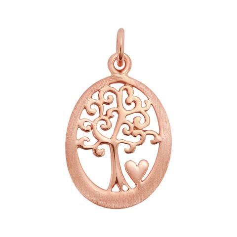 Handmade Elegant Tree of Life Heart Swirls Sterling Silver Pendant (Thailand)