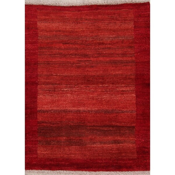 Shop Gabbeh Modern Solid Handmade Wool Persian Small Area Rug 3 9