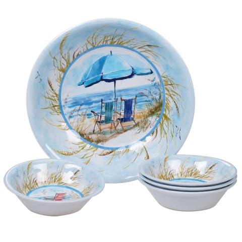 Certified International Ocean View 5-piece Melamine Salad/Serving Set