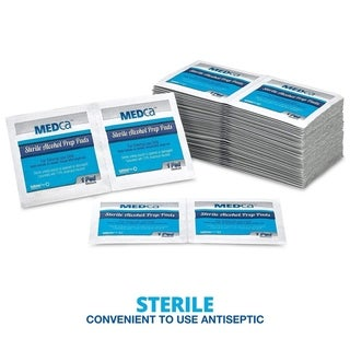 Link to MEDca Alcohol Prep Pads Saturated with 70 Isopropyl Alcohol Wipes | Individually Wrapped Swabs Isopropyl Alcohol - Box of 400 Similar Items in Daily Living Aids